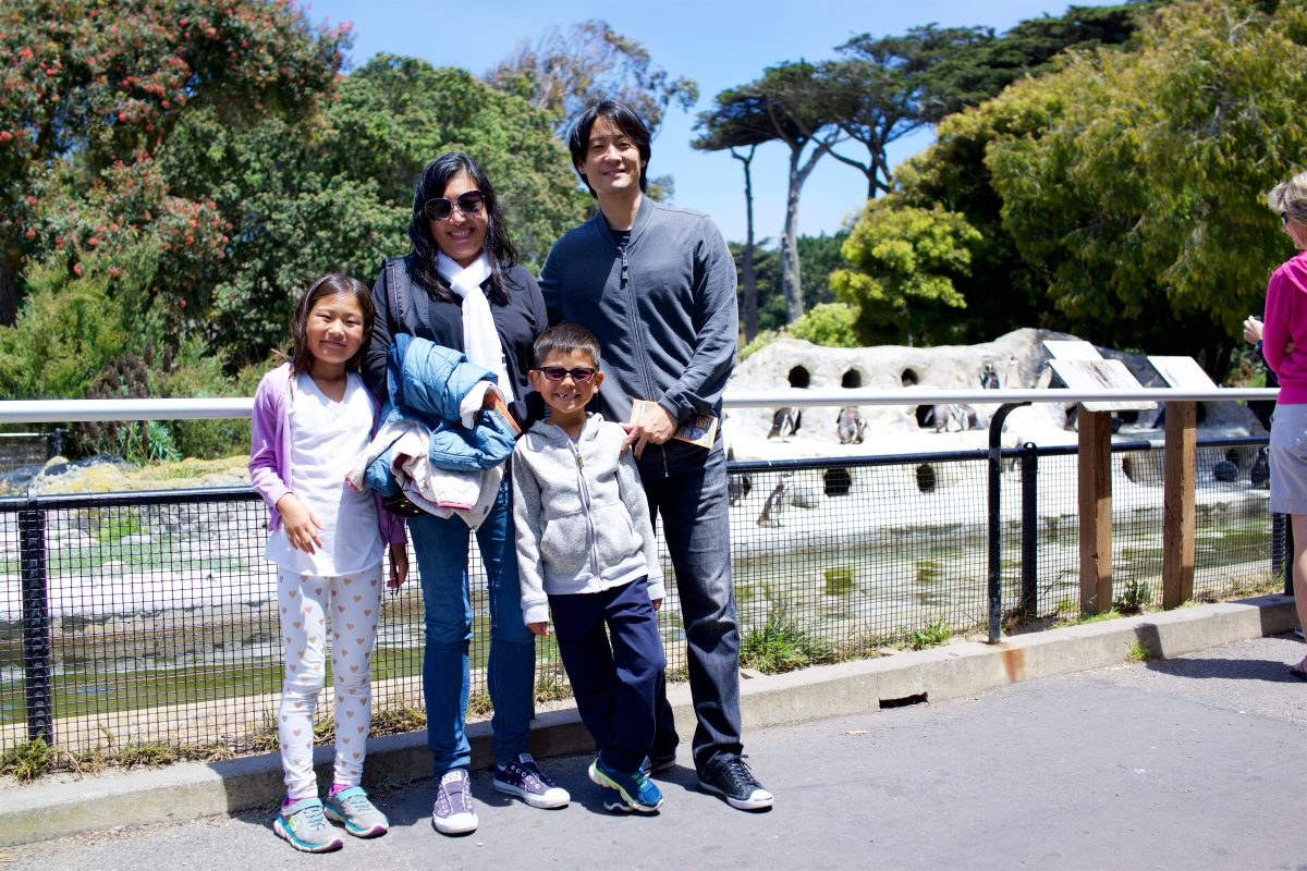 SF Zoo with Aunt Jen and Uncle Dave